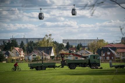 Eindrücke der letzten Vorbereitungen für die Eröffnung der IGA 2017 in Berlin am 06.04.2017