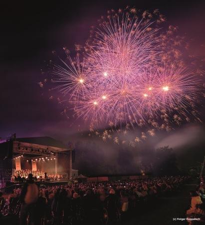 Viva la musica Klassik Open Air und Feuerwerk in den G‰rten der Welt in Berlin Marzahn